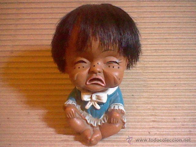 Muñecas Extranjeras: antigua muñeca muñeco goma 9 cms alto sello Japan base mueca llorando RARA elCuai ? - Foto 3 - 52592453