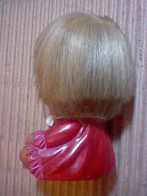 Muñecas Extranjeras: antigua muñeca muñeco goma 9 cms alto sello Japan base mueca sonrisa RARA - Foto 2 - 52592490