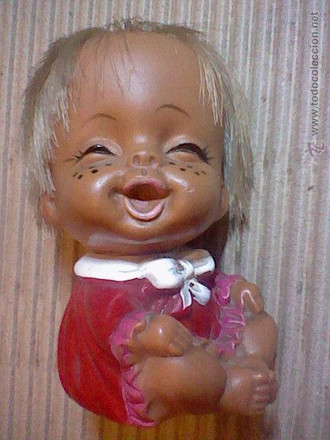 Muñecas Extranjeras: antigua muñeca muñeco goma 9 cms alto sello Japan base mueca sonrisa RARA - Foto 4 - 52592490