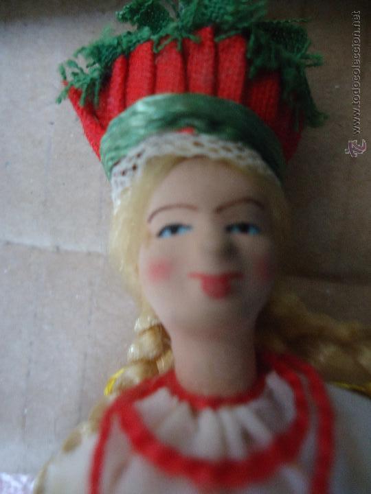 Muñecas Extranjeras: precioso muñeco muñeca traje regional realizado a mano, cabeza barro pintada a mano poland - Foto 5 - 52938660