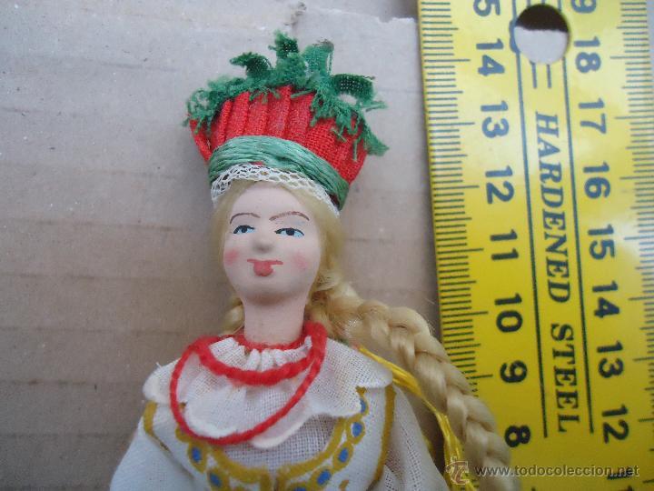Muñecas Extranjeras: precioso muñeco muñeca traje regional realizado a mano, cabeza barro pintada a mano poland - Foto 12 - 52938660