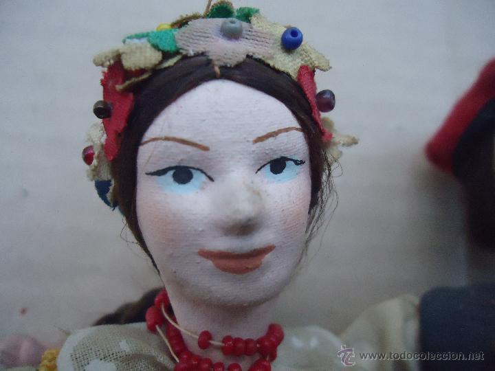 Muñecas Extranjeras: preciosa pareja muñeco muñeca traje regional realizado y pintado a mano, - Foto 7 - 52939326