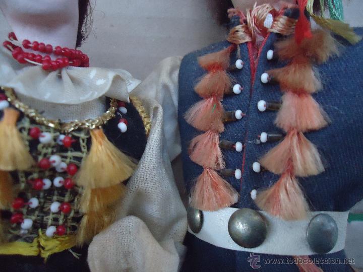 Muñecas Extranjeras: preciosa pareja muñeco muñeca traje regional realizado y pintado a mano, - Foto 10 - 52939326