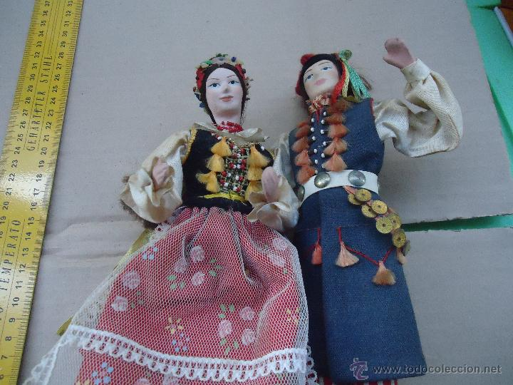Muñecas Extranjeras: preciosa pareja muñeco muñeca traje regional realizado y pintado a mano, - Foto 12 - 52939326
