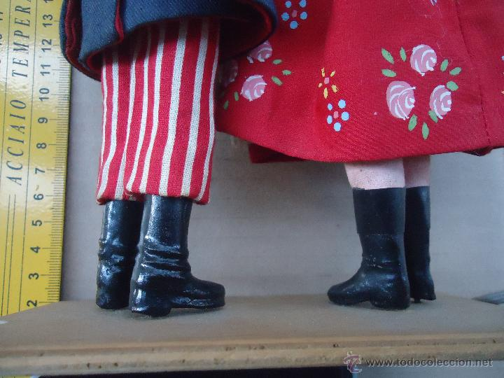 Muñecas Extranjeras: preciosa pareja muñeco muñeca traje regional realizado y pintado a mano, - Foto 15 - 52939326