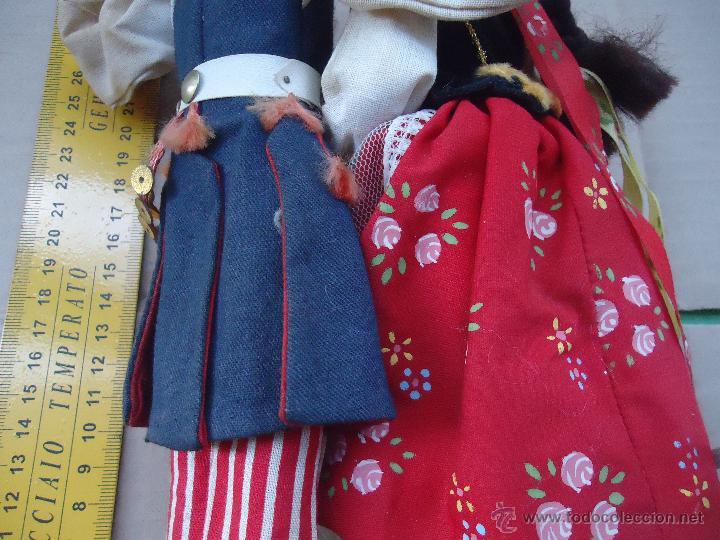 Muñecas Extranjeras: preciosa pareja muñeco muñeca traje regional realizado y pintado a mano, - Foto 17 - 52939326