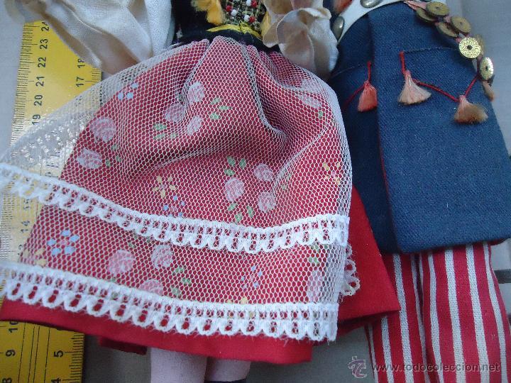 Muñecas Extranjeras: preciosa pareja muñeco muñeca traje regional realizado y pintado a mano, - Foto 20 - 52939326