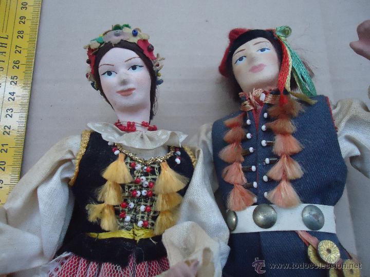 Muñecas Extranjeras: preciosa pareja muñeco muñeca traje regional realizado y pintado a mano, - Foto 22 - 52939326