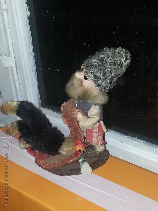 Muñecas Extranjeras: antiguo muñeco ruso con gallina o pavo real vestimenta realizada a mano - Foto 6 - 52942264