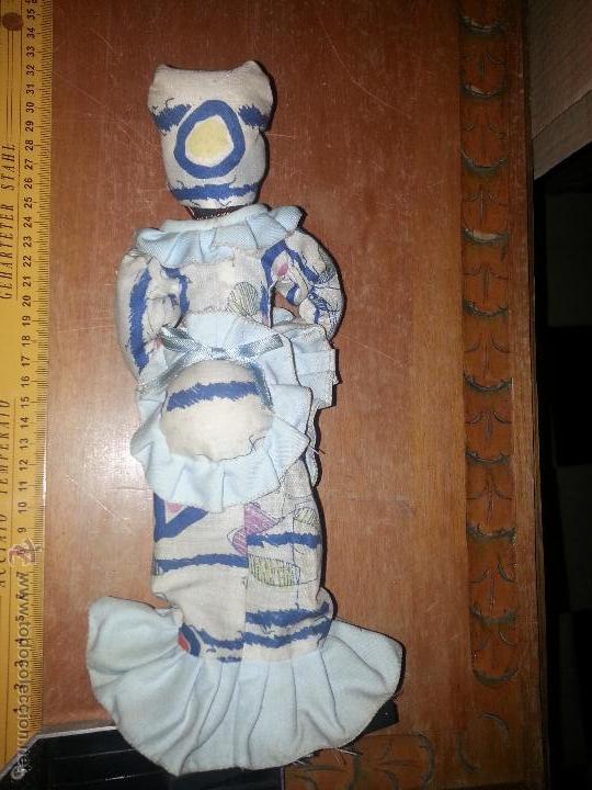 Muñecas Extranjeras: antigua muñeca negra cha cha cha recogida algodon o samba culo cojin - Foto 3 - 52944848