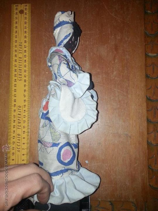Muñecas Extranjeras: antigua muñeca negra cha cha cha recogida algodon o samba culo cojin - Foto 4 - 52944848