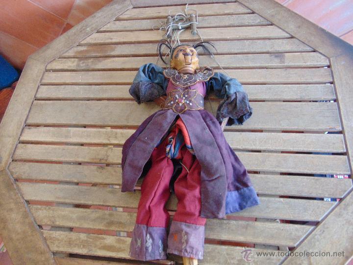 MARIONETA TITERE TAILANDESA EN MADERA Y TELA MIDE LA FIGURA 60 CM (Juguetes - Muñeca Extranjera Antigua - Otras Muñecas)