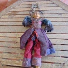 Muñecas Extranjeras: MARIONETA TITERE TAILANDESA EN MADERA Y TELA MIDE LA FIGURA 60 CM. Lote 53764339