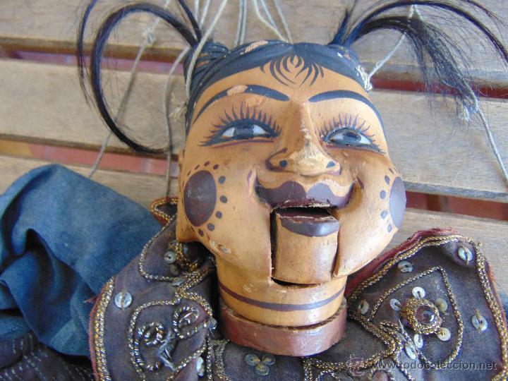 Muñecas Extranjeras: MARIONETA TITERE TAILANDESA EN MADERA Y TELA MIDE LA FIGURA 60 CM - Foto 3 - 53764339