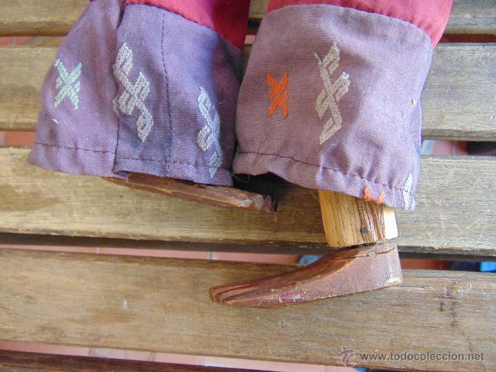 Muñecas Extranjeras: MARIONETA TITERE TAILANDESA EN MADERA Y TELA MIDE LA FIGURA 60 CM - Foto 7 - 53764339