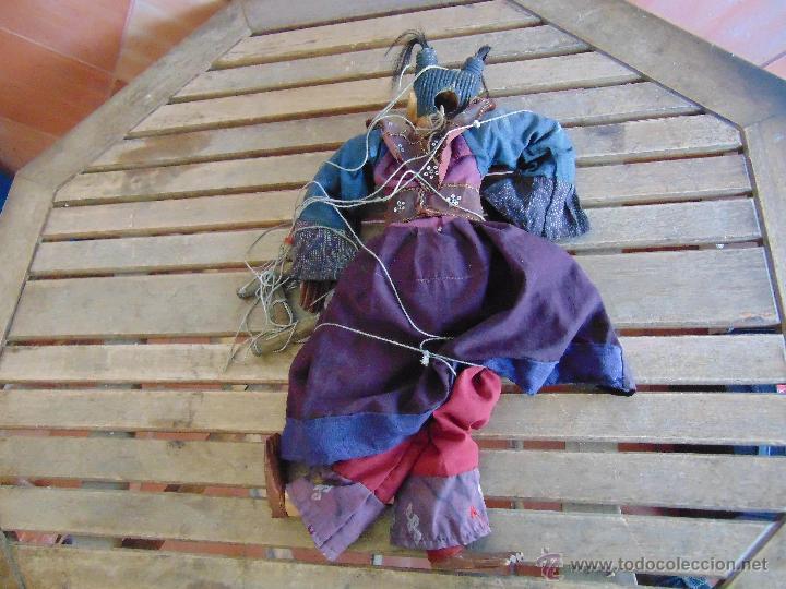 Muñecas Extranjeras: MARIONETA TITERE TAILANDESA EN MADERA Y TELA MIDE LA FIGURA 60 CM - Foto 10 - 53764339