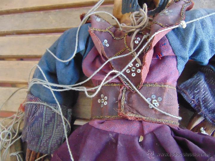 Muñecas Extranjeras: MARIONETA TITERE TAILANDESA EN MADERA Y TELA MIDE LA FIGURA 60 CM - Foto 12 - 53764339