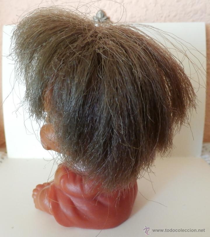 Muñecas Extranjeras: ANTIGUO Muñeco de goma Con Gesto Sellado Made In HONKONG 9 cm - Foto 2 - 53813163