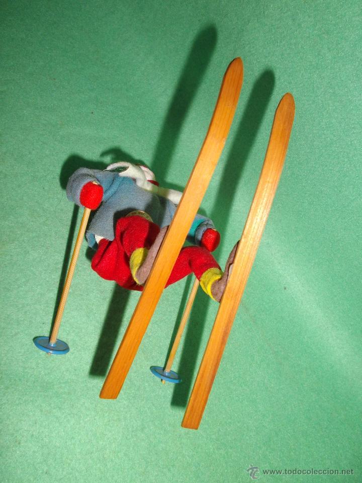 Muñecas Extranjeras: PRECIOSA MUÑECA ESQUIADORA FIELTRO ALAMBRE NAPCO JAPAN AÑOS 50 PINTADO ESQUI SKI ROLDAN KLUMPE - Foto 7 - 54361449
