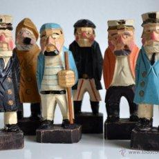 Muñecas Extranjeras: COLECCIÓN DE MUÑECOS DE MADERA ANTIGUOS . Lote 55086441