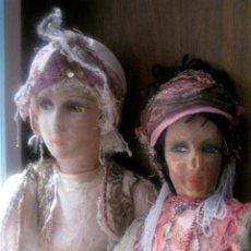 Muñecas Extranjeras: PAREJA DE MUÑECOS BOUDOIR MIL Y UNA NOCHES ART DECO AÑOS 20 - NECESITAN RESTAURAR. Lote 56312826