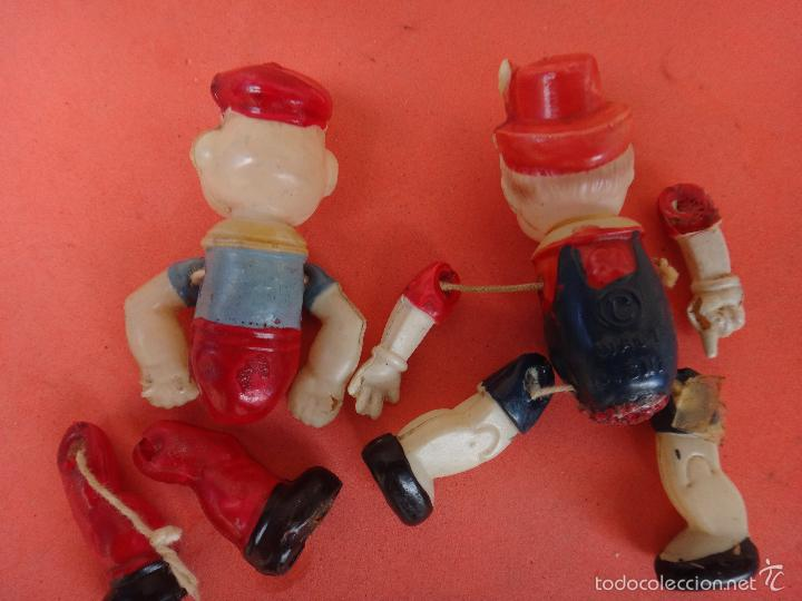 Muñecas Extranjeras: 2 MUÑECOS ANTIGUOS CELULOIDE, POPEYE Y PINOCHO , AMERICANOS USA , ORIGINAL , H - Foto 2 - 56698860