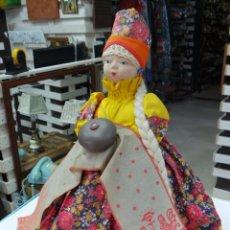 Muñecas Extranjeras: MUÑECA RUSA DE TRAPO CUBRE TETERA. Lote 56806532