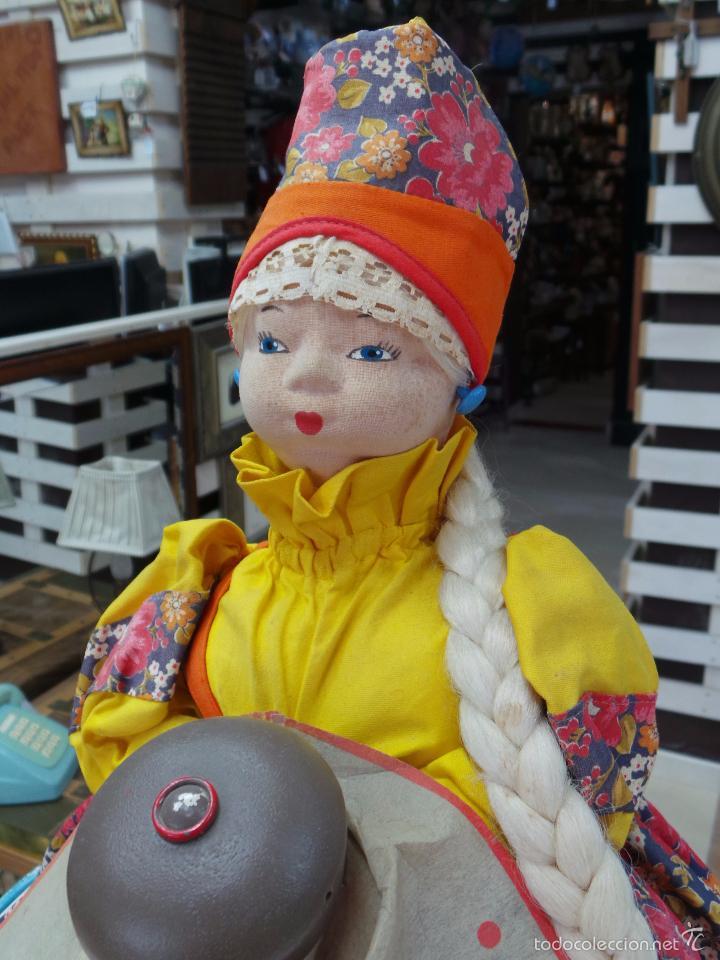 Muñecas Extranjeras: MUÑECA RUSA DE TRAPO CUBRE TETERA - Foto 3 - 56806532