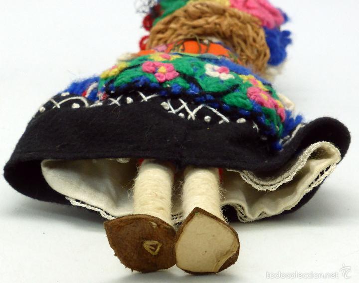 Muñecas Extranjeras: Muñeca traje regional recuerdo viaje trapo y tela años 60 29 cm alto - Foto 5 - 58623070