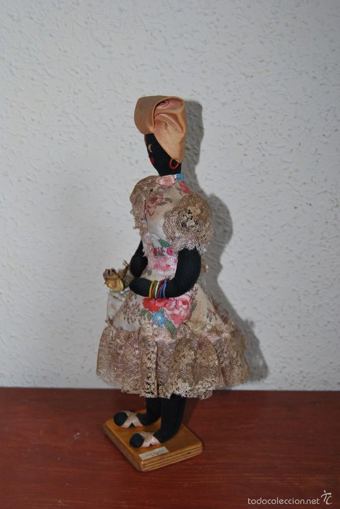 Muñecas Extranjeras: MUÑECA NEGRA DE TELA - CUBA - TRAJE POPULAR - AÑOS 50-60 - Foto 2 - 59068245