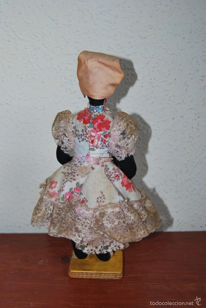 Muñecas Extranjeras: MUÑECA NEGRA DE TELA - CUBA - TRAJE POPULAR - AÑOS 50-60 - Foto 3 - 59068245