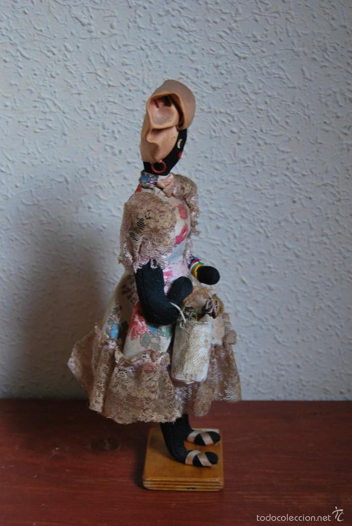 Muñecas Extranjeras: MUÑECA NEGRA DE TELA - CUBA - TRAJE POPULAR - AÑOS 50-60 - Foto 4 - 59068245