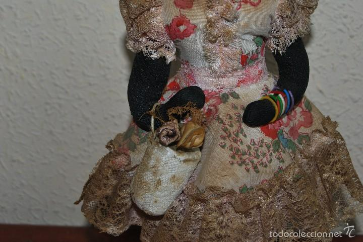 Muñecas Extranjeras: MUÑECA NEGRA DE TELA - CUBA - TRAJE POPULAR - AÑOS 50-60 - Foto 7 - 59068245