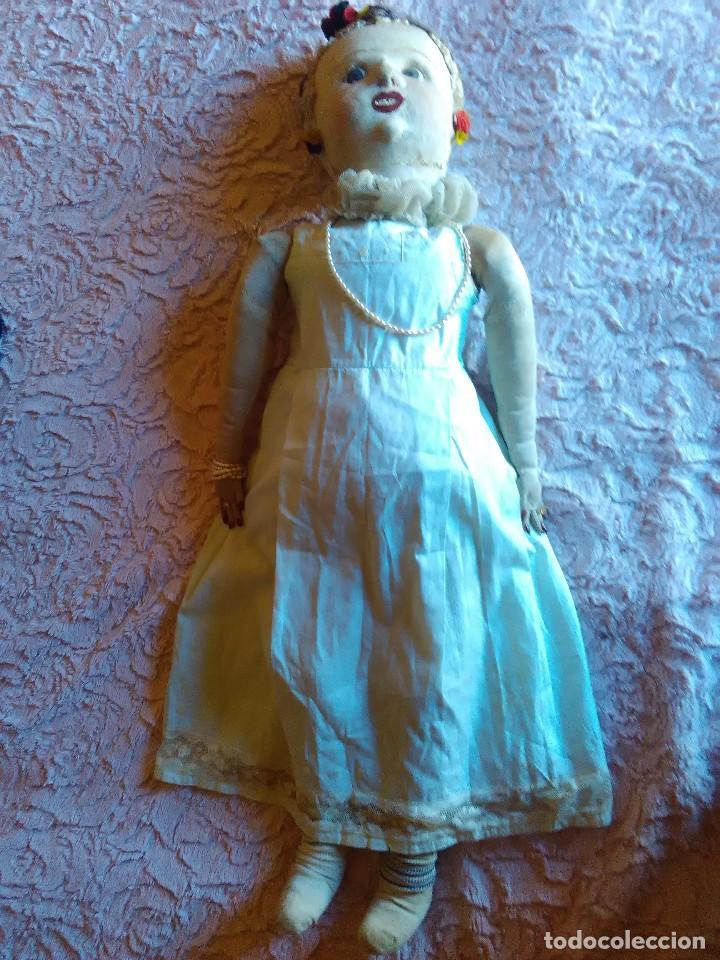 Muñecas Extranjeras: Antigua muñeca de trapo brasileña de los años 30 de 84 cm. - Foto 2 - 64164215