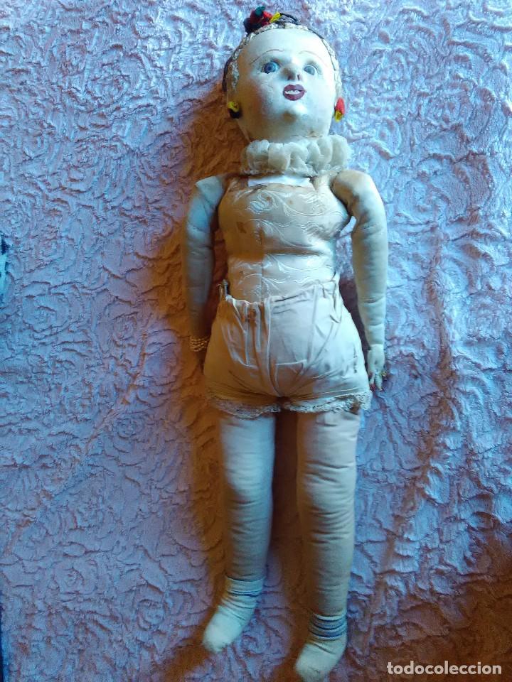 Muñecas Extranjeras: Antigua muñeca de trapo brasileña de los años 30 de 84 cm. - Foto 3 - 64164215
