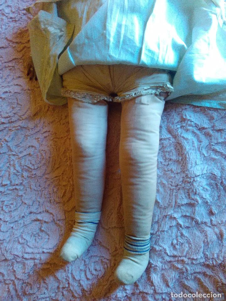 Muñecas Extranjeras: Antigua muñeca de trapo brasileña de los años 30 de 84 cm. - Foto 7 - 64164215