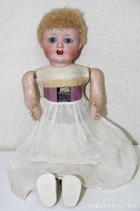 Muñecas Extranjeras: MU140 MUÑECA AUTÓMATA. PORCELANA, COMPOSICIÓN Y CABRITILLA. FUNCIONA. S. XIX - Foto 7 - 65752962