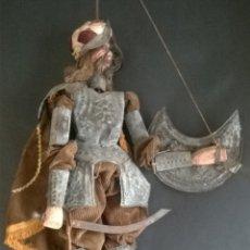 Muñecas Extranjeras: ANTIGUO TÍTERE O MARIONETA DE VARILLA - PUPI SICILIANA ORIGINAL S. XIX.. Lote 67177233