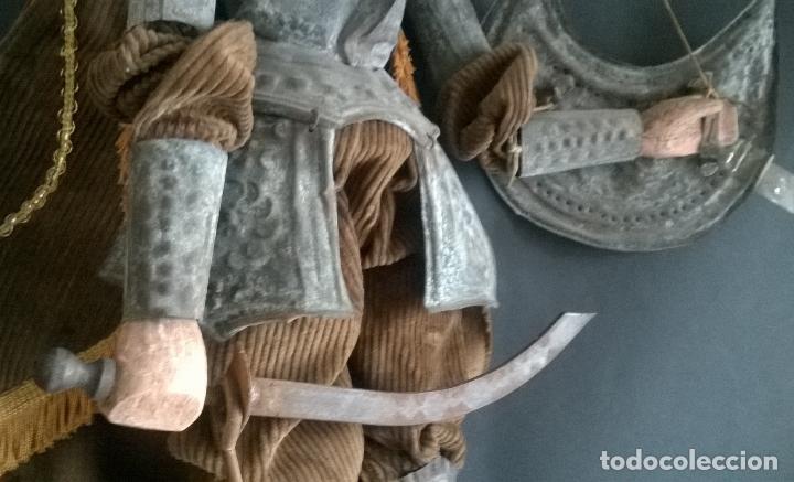 Muñecas Extranjeras: ANTIGUO TÍTERE O MARIONETA DE VARILLA - PUPI SICILIANA ORIGINAL S. XIX. - Foto 7 - 67177233