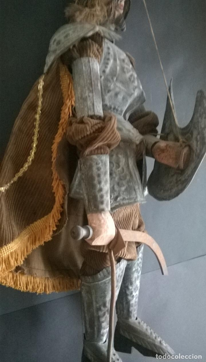Muñecas Extranjeras: ANTIGUO TÍTERE O MARIONETA DE VARILLA - PUPI SICILIANA ORIGINAL S. XIX. - Foto 8 - 67177233