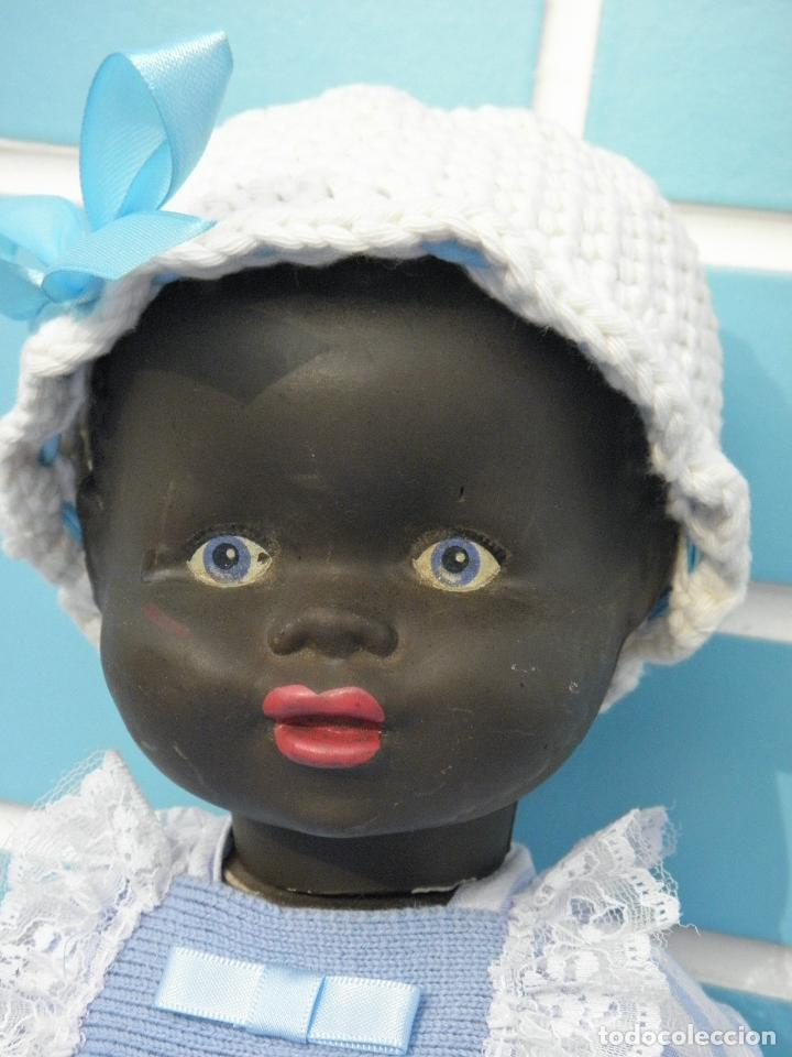 Muñecas Extranjeras: Muñeco bebé negrito muy antiguo de 39 cm - Foto 2 - 68841609