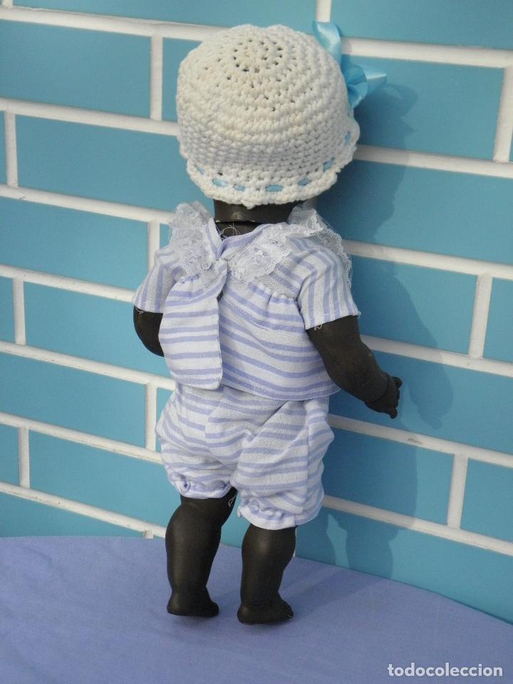 Muñecas Extranjeras: Muñeco bebé negrito muy antiguo de 39 cm - Foto 3 - 68841609