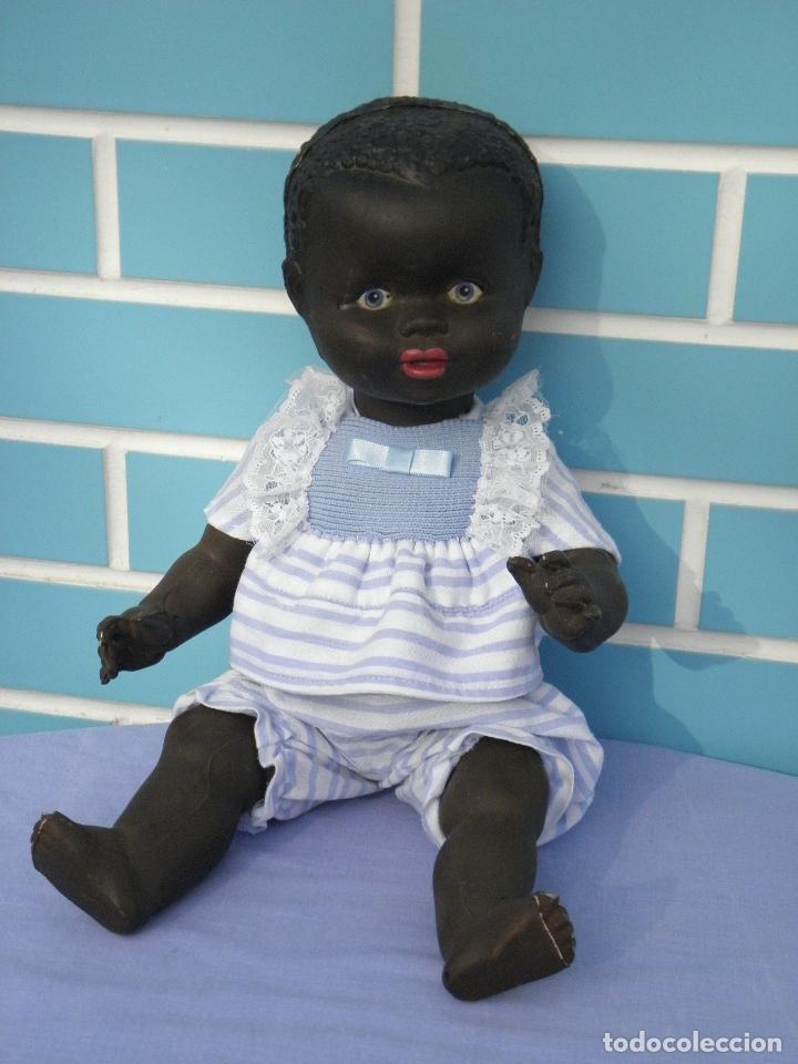 Muñecas Extranjeras: Muñeco bebé negrito muy antiguo de 39 cm - Foto 5 - 68841609