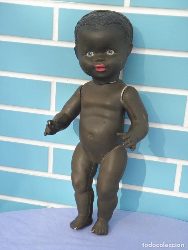 Muñecas Extranjeras: Muñeco bebé negrito muy antiguo de 39 cm - Foto 6 - 68841609