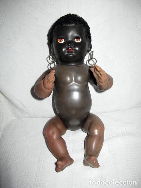 Muñecas Extranjeras: ANTIGUO MUÑECO NEGRITO MADE IN ENGLAND PAT 600270,OLD DOLL POUPEE,PUPPE, - Foto 3 - 70295101