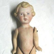 Muñecas Extranjeras: MUÑECA ARTICULADA PORCELANA BISCUIT AÑOS 40, BUEN ESTADO. MED. 15 CM. Lote 74239027