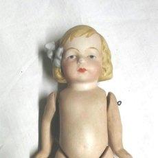 Muñecas Extranjeras: MUÑECA ARTICULADA PORCELANA BISCUIT AÑOS 40, BUEN ESTADO. MED. 15 CM. Lote 74239267
