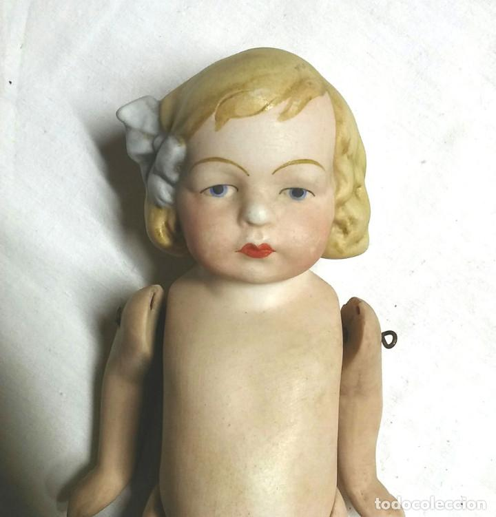 Muñecas Extranjeras: Muñeca articulada porcelana biscuit años 40, buen estado. Med. 15 cm - Foto 2 - 74239267