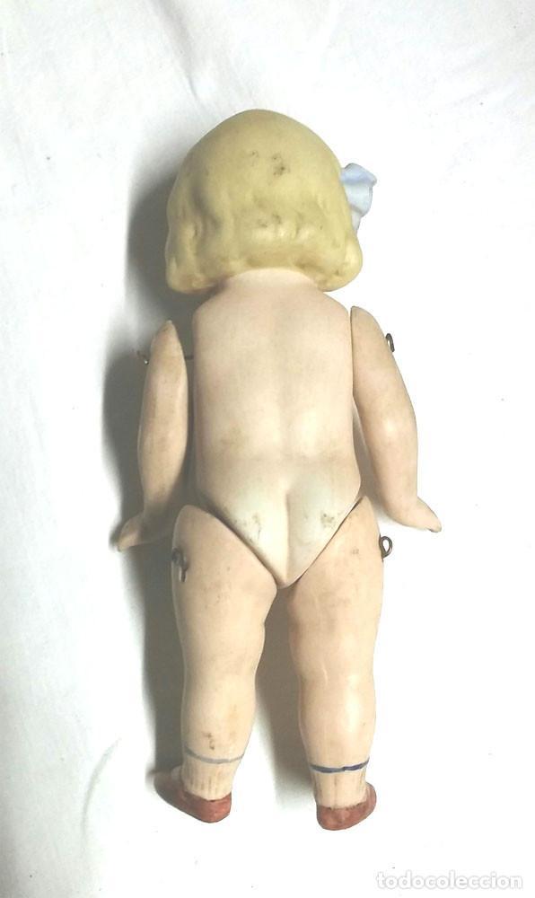 Muñecas Extranjeras: Muñeca articulada porcelana biscuit años 40, buen estado. Med. 15 cm - Foto 3 - 74239267