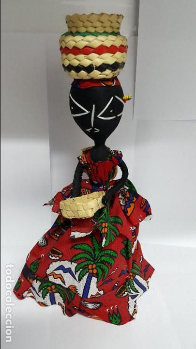 AUTENTICA MUÑECA REGIONAL DEL AFRICA EN PERFECTO ESTADO - EN PERFECTO ESTADO - NUEVA - (Juguetes - Muñeca Extranjera Antigua - Otras Muñecas)